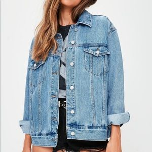 BRAND NEW Missguided Oversized Denim Jacket